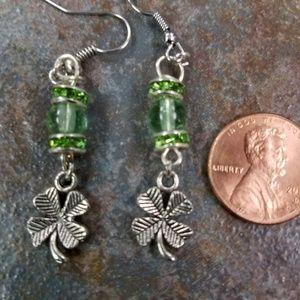 New Shamrock 4 leaf clover St. Patrick's earrings